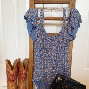 Lucky Brand cut out top